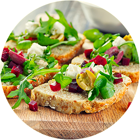 Open Face Goat Cheese Sandwich